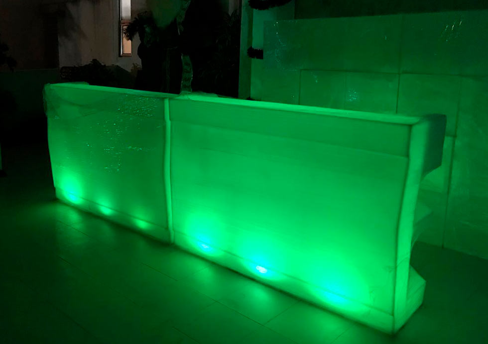 Barra con luz LED
